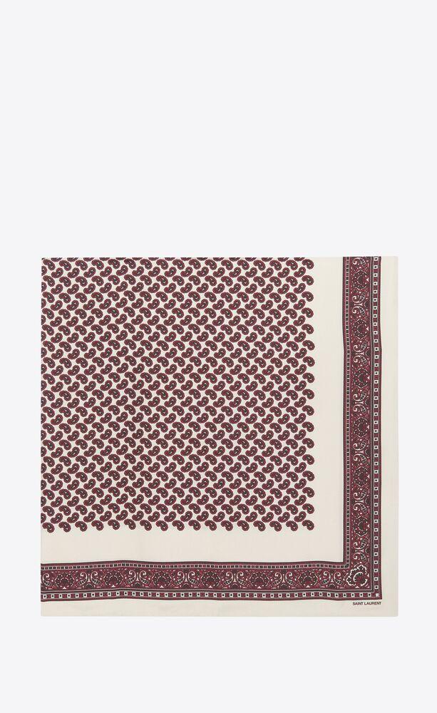 carré de twill de seda con motivo cachemira