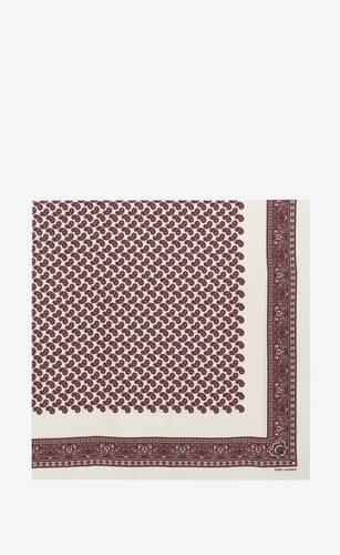 sciarpa quadrata in twill di seta paisley