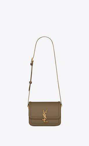 borsa satchel solferino piccola in pelle box saint laurent