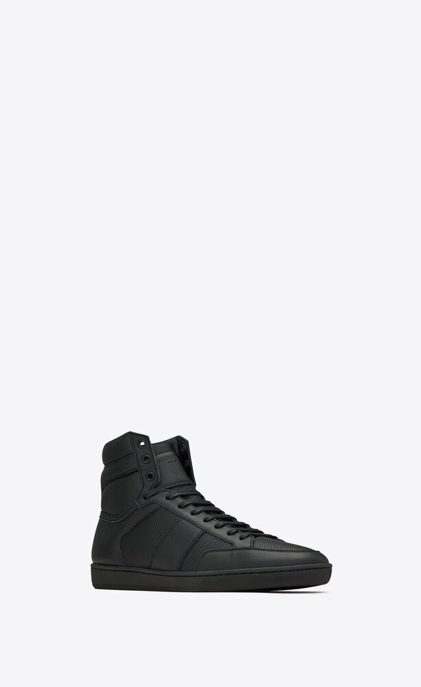 court classic sl/10h in perforated and grained leather