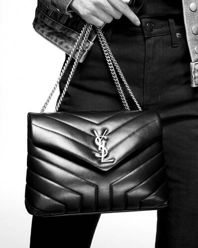 "loulou small in matelassé ""y"" leather"