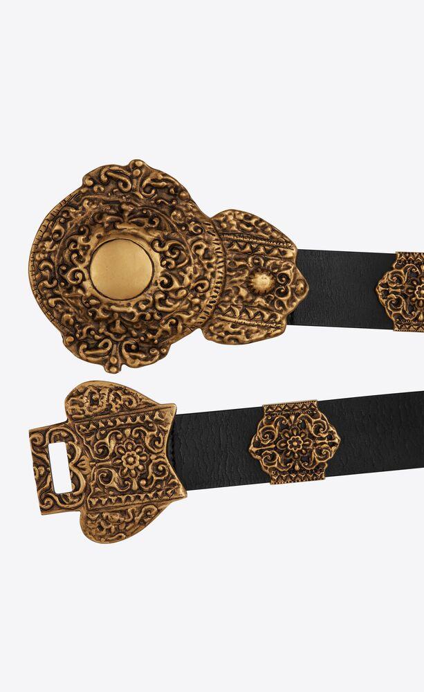 byzantinischer gürtel aus craquelé-leder