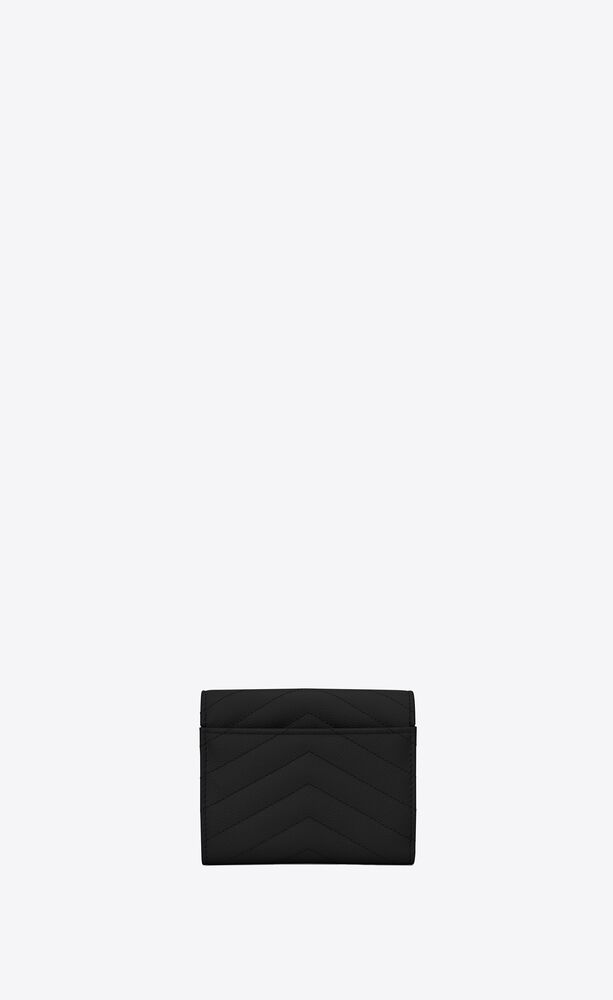 monogram compact tri fold in grain de poudre embossed leather