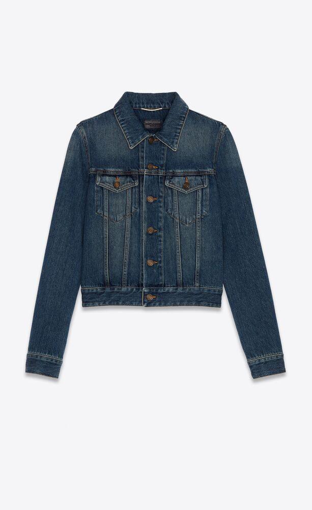 classic jacket in deep vintage blue denim