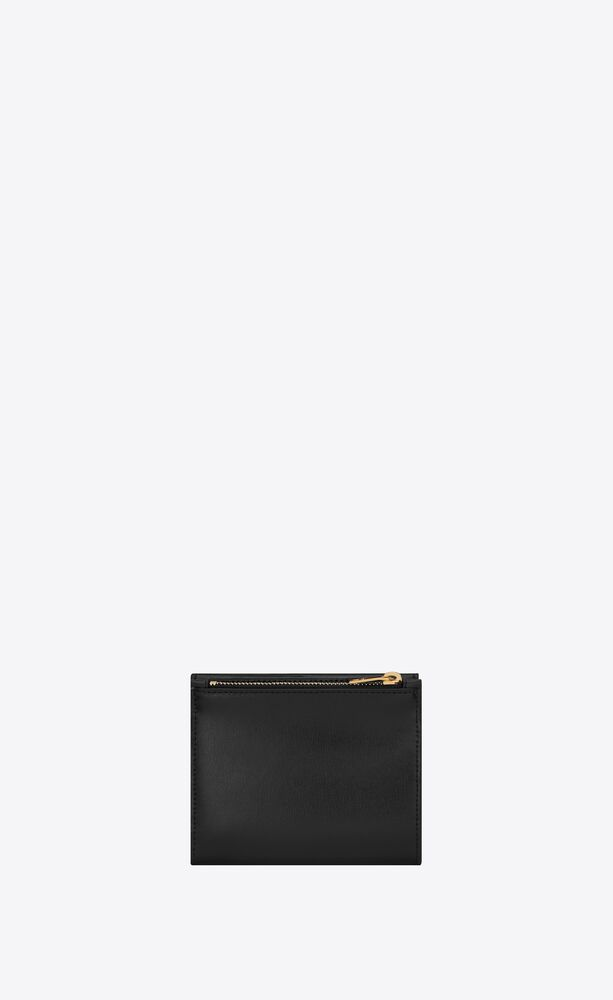 uptown compact wallet in shiny smooth leather