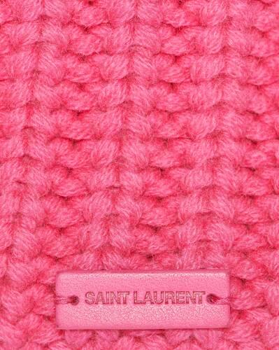 knitted cuff beanie in cashmere