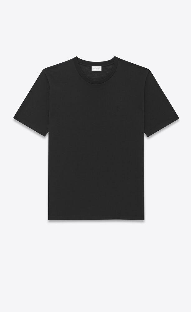 t-shirt monogramme en laine et soie