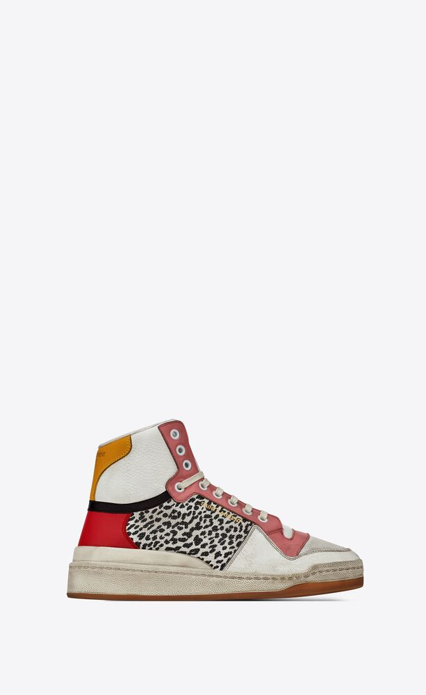 sl24 mid-top sneakers in leather