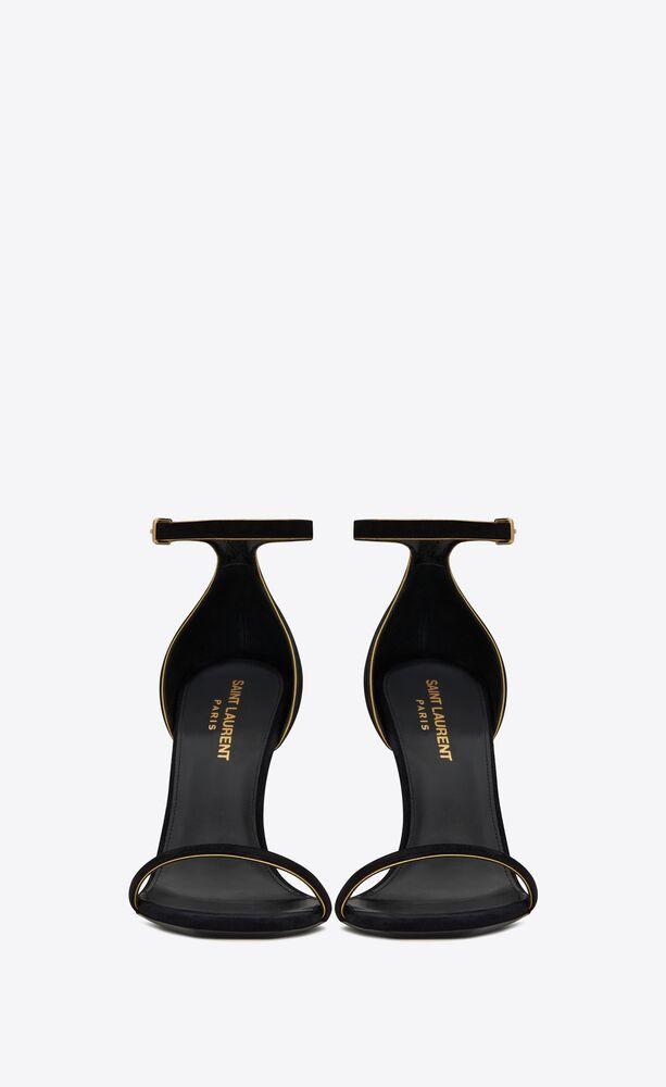 opyum sandals in suede with black heel