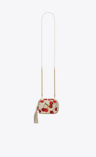 lou baby bag in cherry printed leather