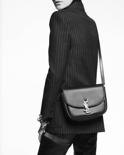 bolso cruzado mediano kaia de piel con estampado de jirafa efecto poni