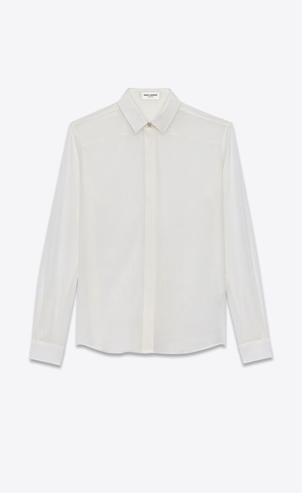 camisa de crepé de seda
