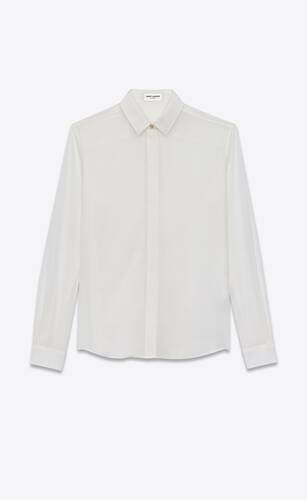 shirt in silk crêpe