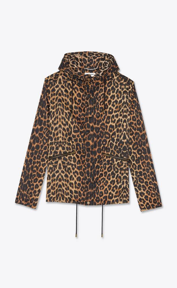 windjacke mit leoparden-print
