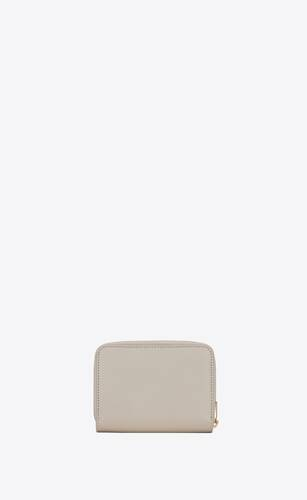 tiny monogram compact zip wallet in smooth leather