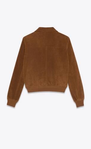 chaqueta estilo setentero de ante vintage