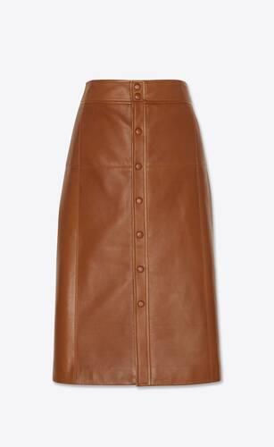 long skirt in lambskin