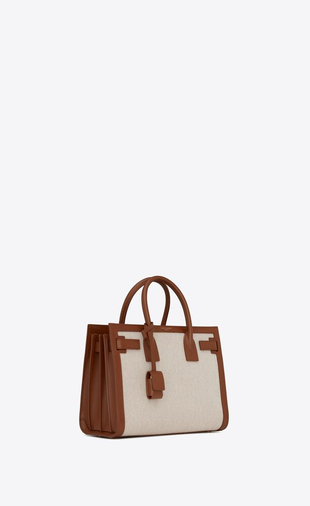 classic sac de jour baby in canvas and smooth leather