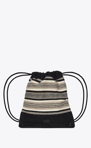 teddy backpack in ethnic tapestry