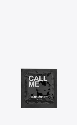 """call me"" condom"