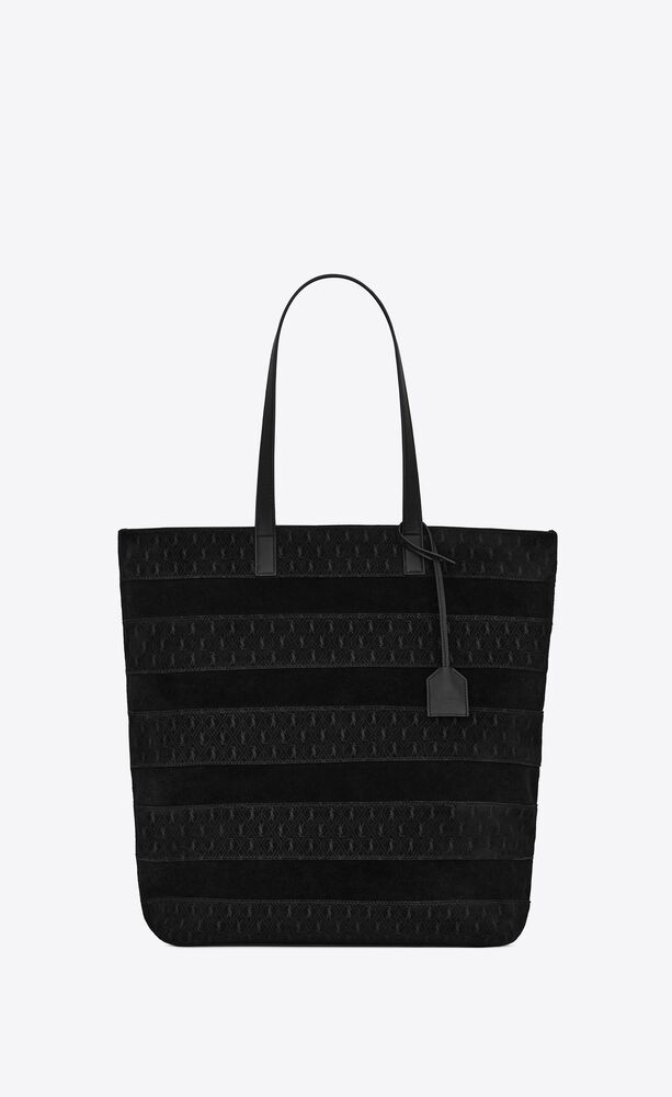 le monogramme shopping bag in patchwork ysl suede