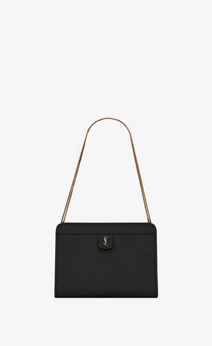 bolso shopper saint laurent north/south toy de mimbre trenzado y piel