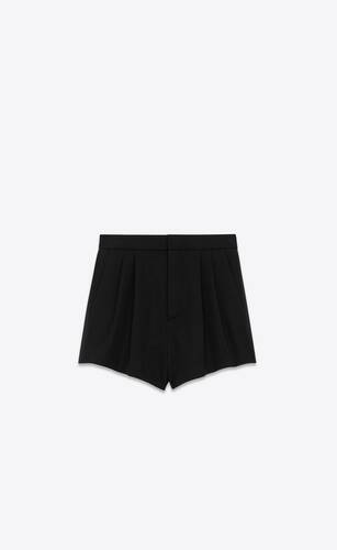 tuxedo shorts in saint laurent grain de poudre