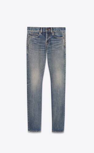 slim-fit jeans in dirty sandy blue denim