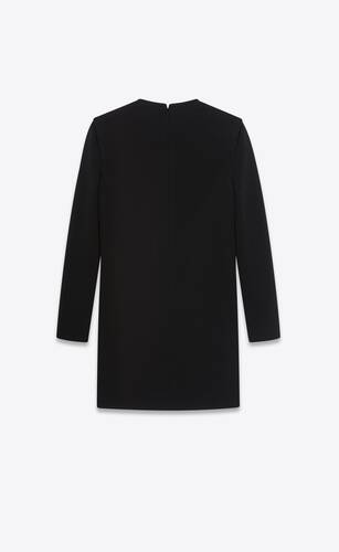 lace-up mini dress in wool jersey