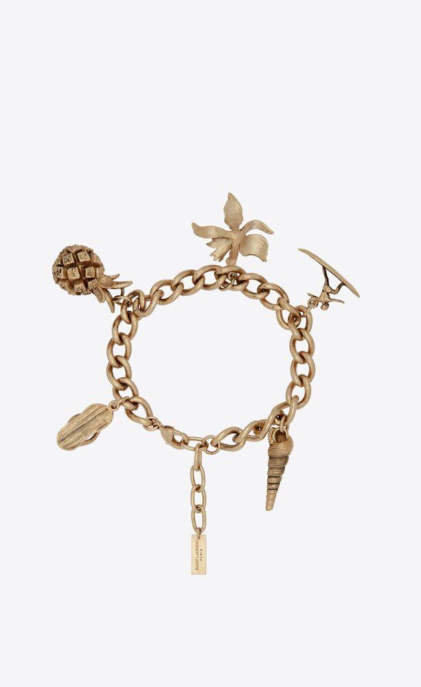 hawaiian charm bracelet in metal