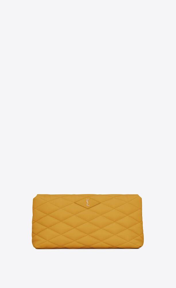 sade puffer envelope clutch in lambskin