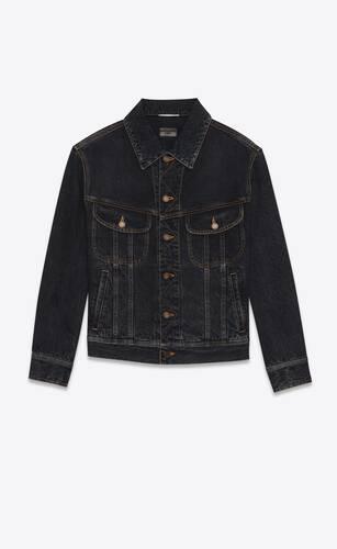 80's jacket in charcoal grey denim