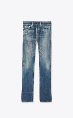 straight-fit jeans in dirty winter blue denim