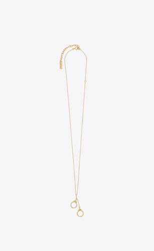 handcuffs pendant necklace in 18k gold