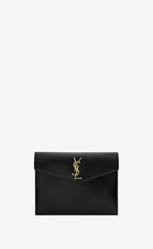 uptown baby pouch in shiny smooth leather