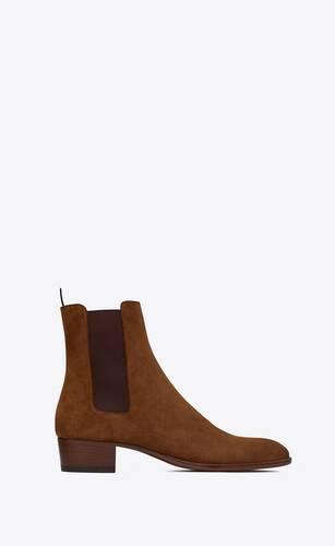 wyatt chelsea boots in suede
