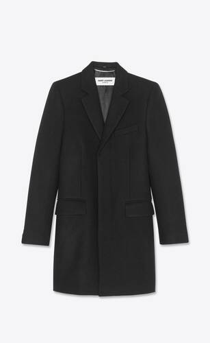 tailored coat in cashmere felt
