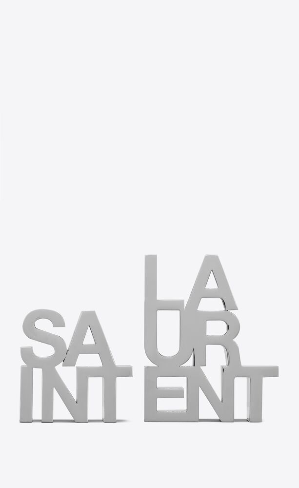 saint laurent bookends in metal