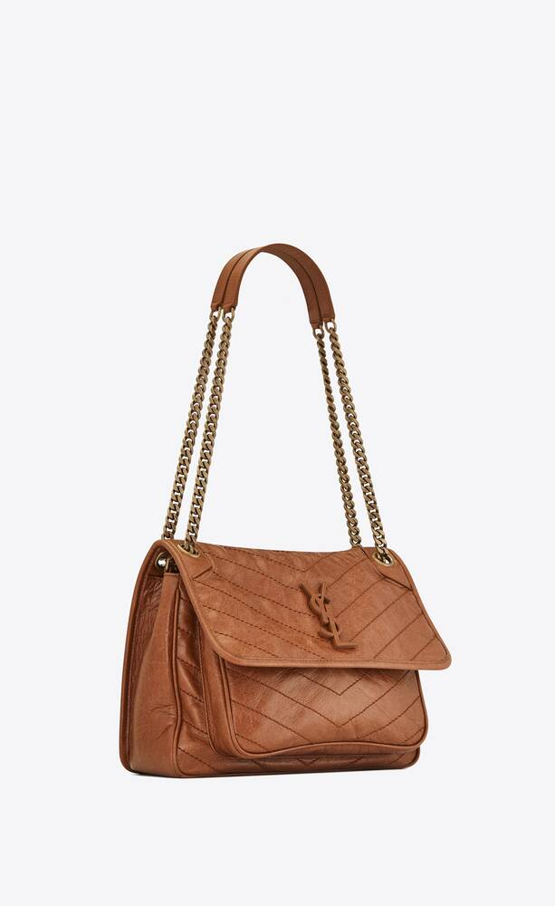 niki medium in quilted crinkled vintage leather