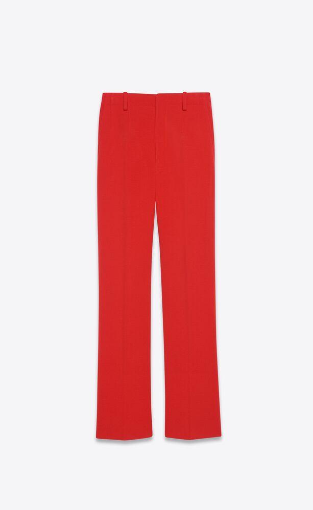 flared pants in wool jersey