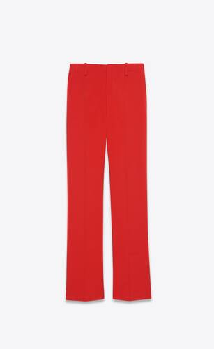 flared pants in wool jersey