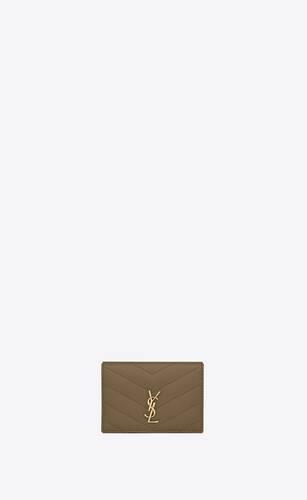 monogram extrakleines origami-portemonnaie aus gestepptem leder mit grain-de-poudre-prägung