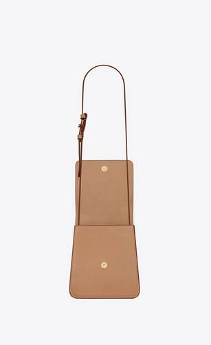 kaia north/south satchel in vegetable-tanned leather