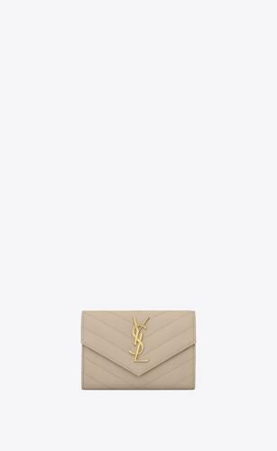 monogram kleines leder portemonnaie mit umschlag und grain-de-poudre-prägung
