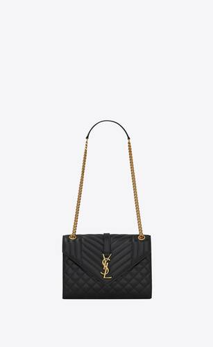 envelope medium bag in supple quilted leather