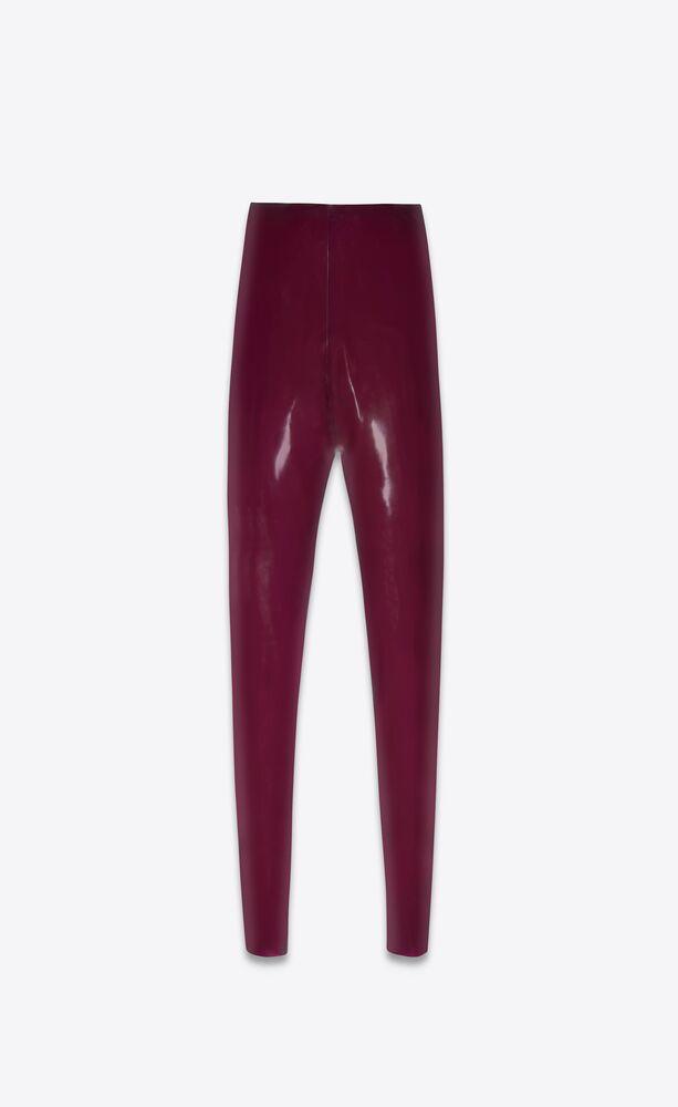 hoch geschnittene latex-leggings