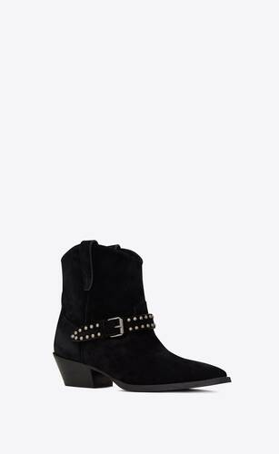 west buckled boots in suede with studs