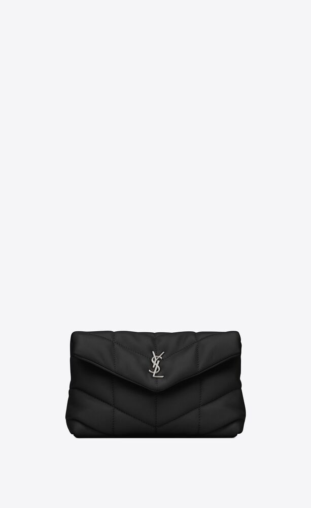 puffer small pouch in quilted lambskin