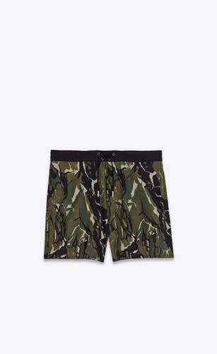 camouflage print swim shorts