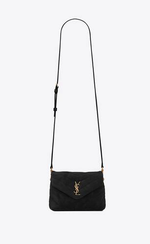 loulou toy bag in suede and quilted leather
